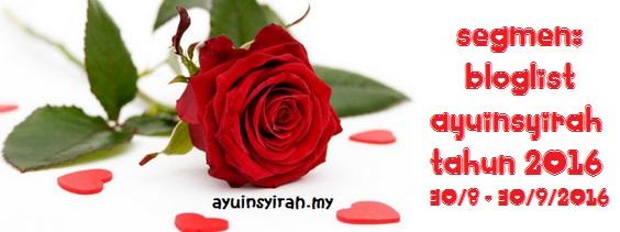 segmen bloglist ayuinsyirah