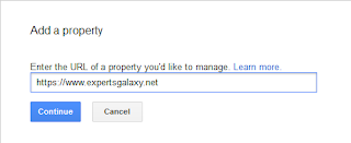 Enter Google Search Property URL