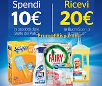 Logo Le Stelle del Pulito Procter&Gamble: Spendi 10€ e ricevi 20€ in buoni sconto!