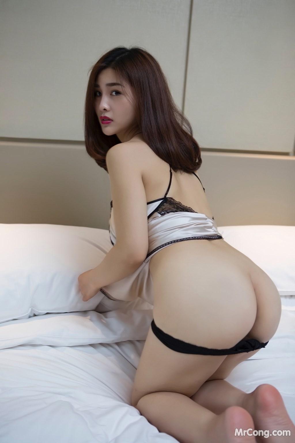 Image Yan-Pan-Pan-Part-5-MrCong.com-002 in post Ngắm người đẹp Yan Pan Pan (闫盼盼) khoe dáng sexy với váy ngủ (25 ảnh)