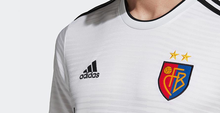 8271d8349 It is made by long-term Basel jersey producer Adidas and features a special  crest based on the old Basel logo to celebrate the 125th birthday of the  club.