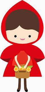 Divertido Clipart de Caperucita Roja.