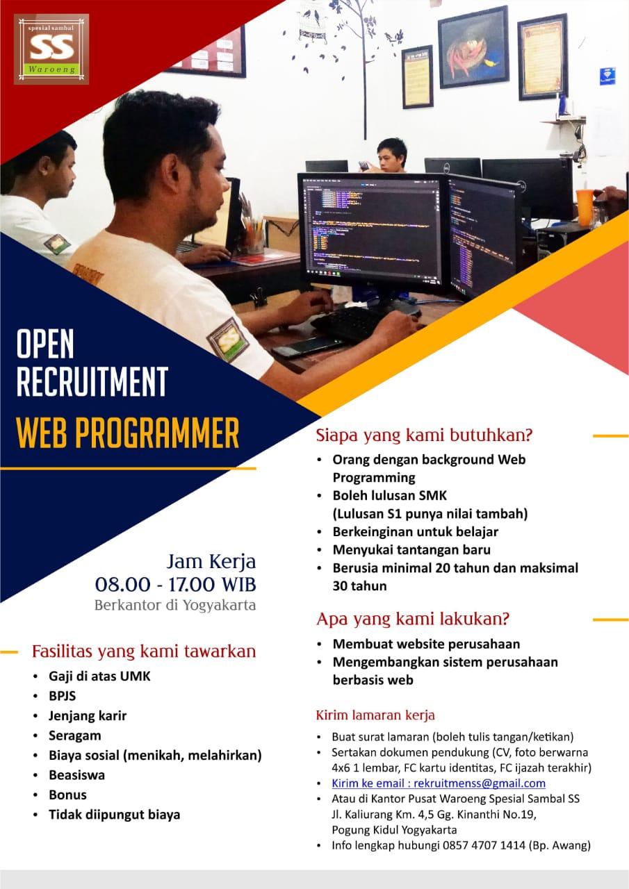 Lowongan Web Programmer Di Jogja Lowongan Kerja Terbaru