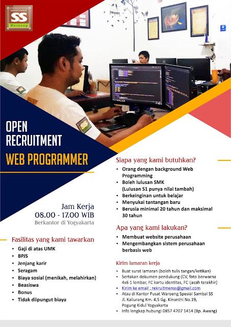 Lowongan Web Programmer di Jogja