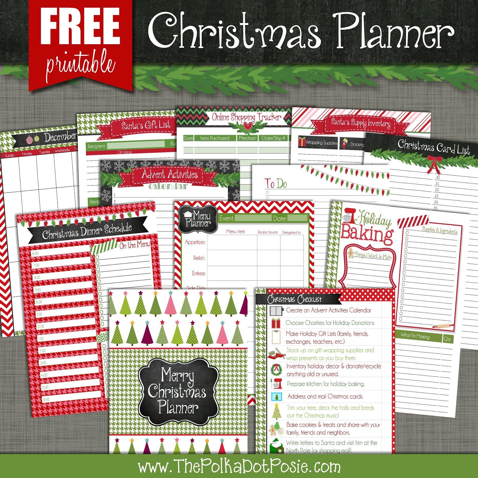 The Polka Dot Posie Free Christmas Shopping Checklist