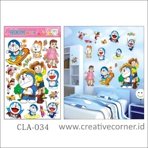 Wall Sticker 3D / Stiker Dinding 3D Motif Doraemon (CLA-034)