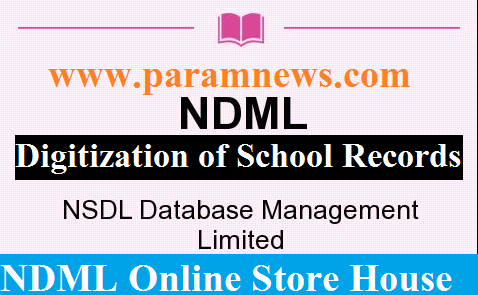 digitization-of-school-records-ndml-paramnews-information-by-Ministry-HRD-in-Lok-Sabha