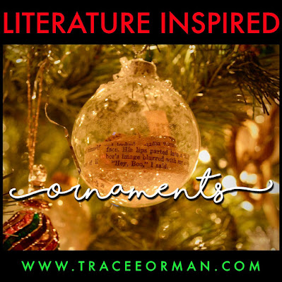 Literature-Inspired Ornaments  www.traceeorman.com