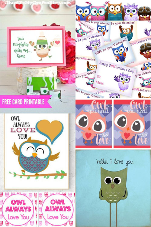 11 Adorable Valentine Owl Printables For Free