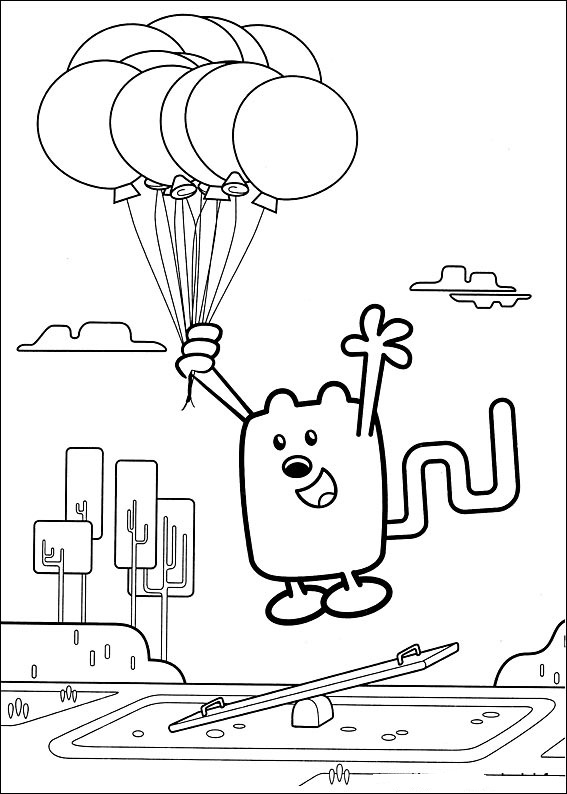 wa wa wubbzy coloring pages - photo #4