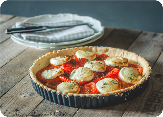 Tomatentarte mit Ziegenkäse