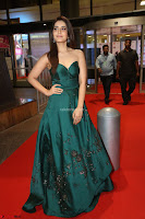 Raashi Khanna in Dark Green Sleeveless Strapless Deep neck Gown at 64th Jio Filmfare Awards South ~  Exclusive 125.JPG