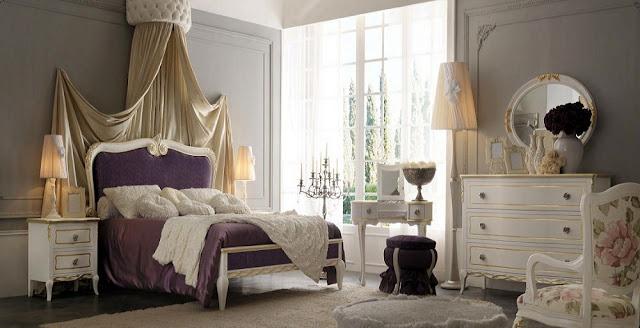Mobila dormitor italiana - Mobila clasica / Paturi tapitate dormitoare de lux