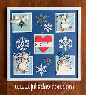 Stampin' Up! Spirited Snowmen Sample Frame ~ 2018 Holiday Catalog ~ www.juliedavison.com