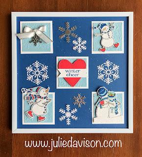 Stampin' Up! Spirited Snowmen Sample Frame ~ 2018 Holiday Catalog ~ www.juliedavison.com