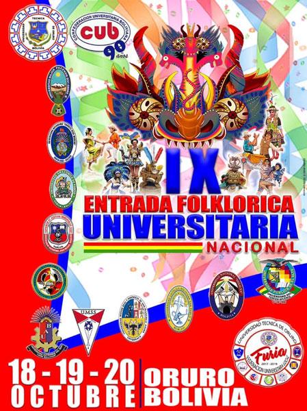 Rol Oficial de Ingreso Entrada Folklórica Universitaria Nacional 2018