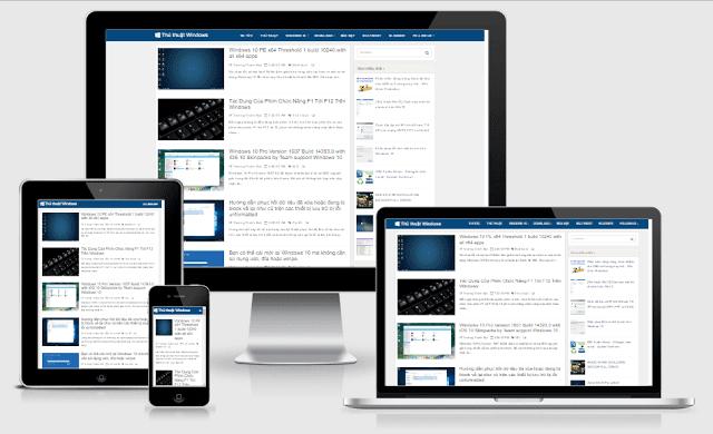 Chia sẻ Template Blogger thủ thuật Windowns đẹp mắt 2019