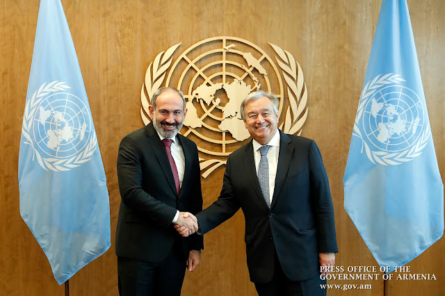 Pashinyan y Guterres se reúnen en Nueva York