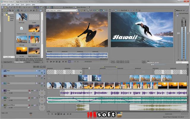 Sony Vegas Movie Studio video editing software free download setup