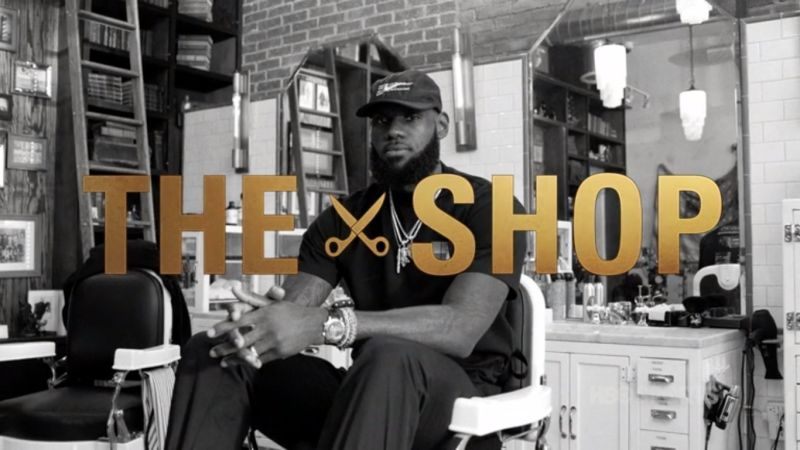 ce3c1d774e19 Thoughts on TV  NBA s LeBron James is unfiltered on HBO s The Shop – In the  barbershop you can t lie.