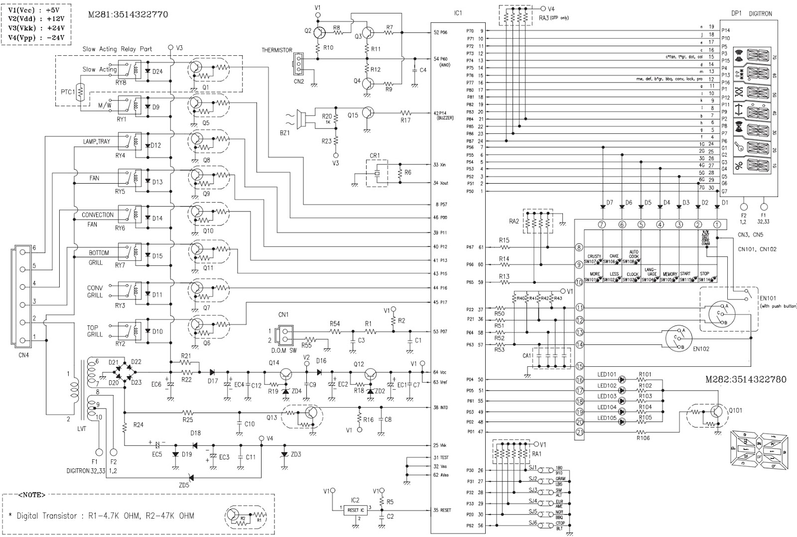 swchematic 1 daewoo koc 1b5k9a27 microwave oven tests circuit diagram daewoo microwave wiring diagram at gsmportal.co