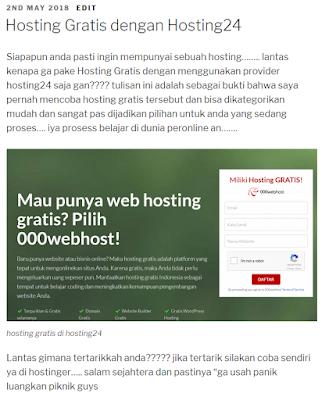 hosting gratis di hosting24