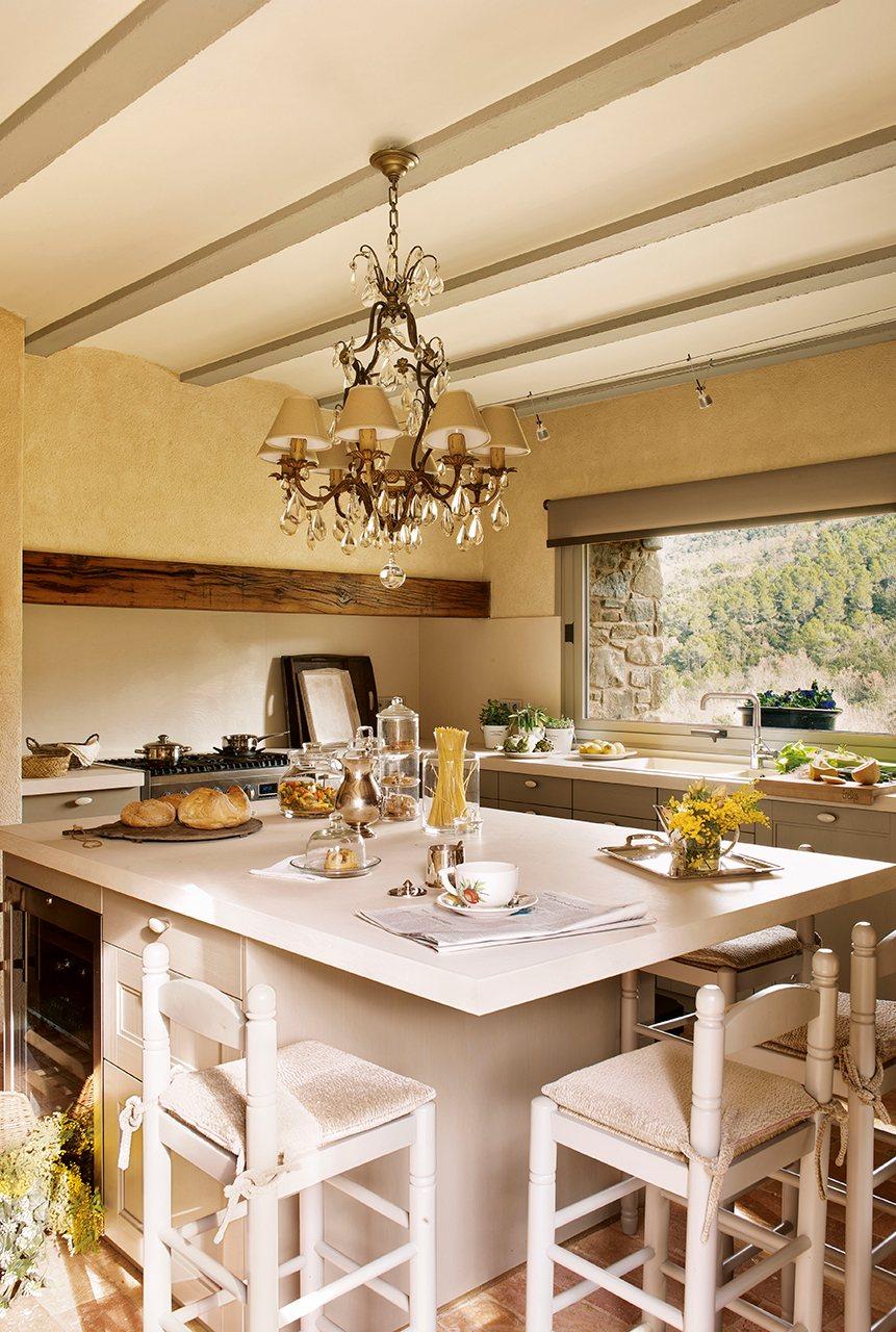 entre piedra y maderauna casa clsica de campo vista en la revista el mueble