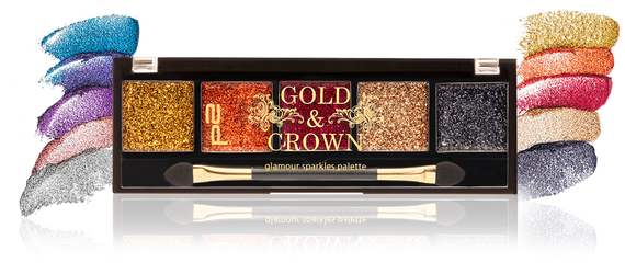 p2, gold & crown, queen for a day lip palette, glamour sparkles palette, most gorgeous face trio, neo baroque mono eye shadow, pomp+glimmer mascara top coat, most-wanted eyebrow gel, rich+royal nail polish, glaring glitter top coat, fabulous beautiful fake lashes, impressive gel lipliner