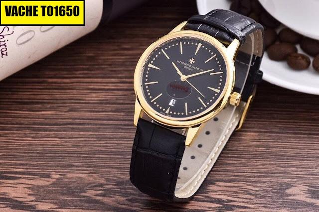 Đồng hồ dây da Vacheron T01650