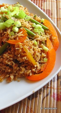 Thai Vegetable Fried Rice With Coconut Milk