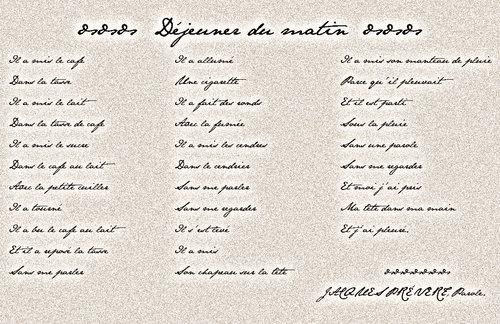 Le Coin Du Français A La Manière De Prévert