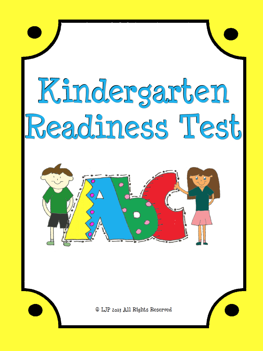 Persnickety Printable Kindergarten Readiness Test