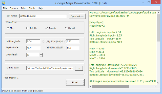 تحميل برنامج تنزيل خرائط جوجل للكمبيوتر Google Maps Downloader 8.2