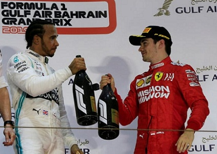 Lewis Hamilton wins in Bahrain Grand Prix from Bottas, after Leclerc loses power