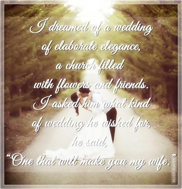 I Dreamed Of A Wedding Of Elaborate Elegance