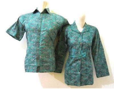 Model Baju Batik Kerja Guru 2017