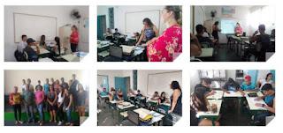 Alunos do CEEJA - Centro Estadual de Educação para Jovens e Adultos da Escola Hiroshi Sakano de Registro participam de Oficina da Maleta Juventudes