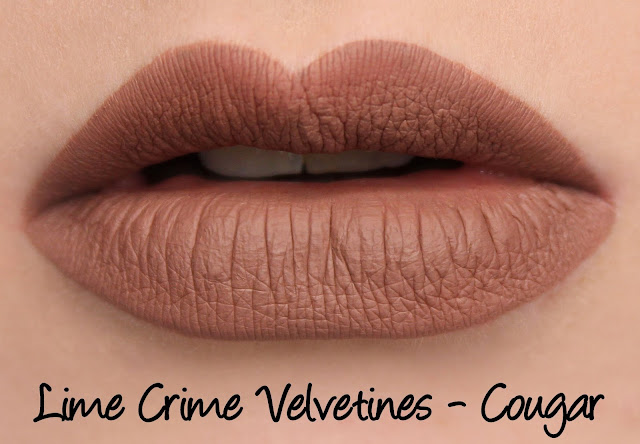 Lime Crime M$LF Velvetines Collection - Cougar Swatches & Review