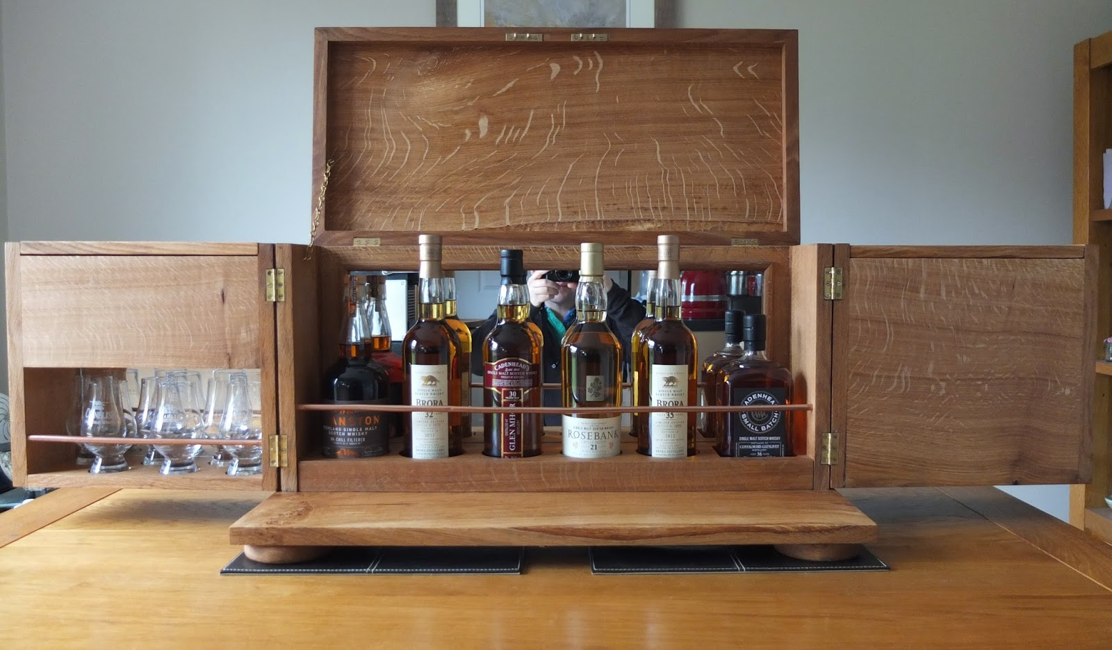 With The Doors Opened Out Base Beneath Becomes Exposed And Can Act As That Whisky Plinth I Once Envisaged Bottle Area Has Room For 6 Bottles Of Varying
