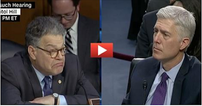 Viral Sweat: Franken's Pointed Questions Fall Flat to Gorsuch's Cool Answers