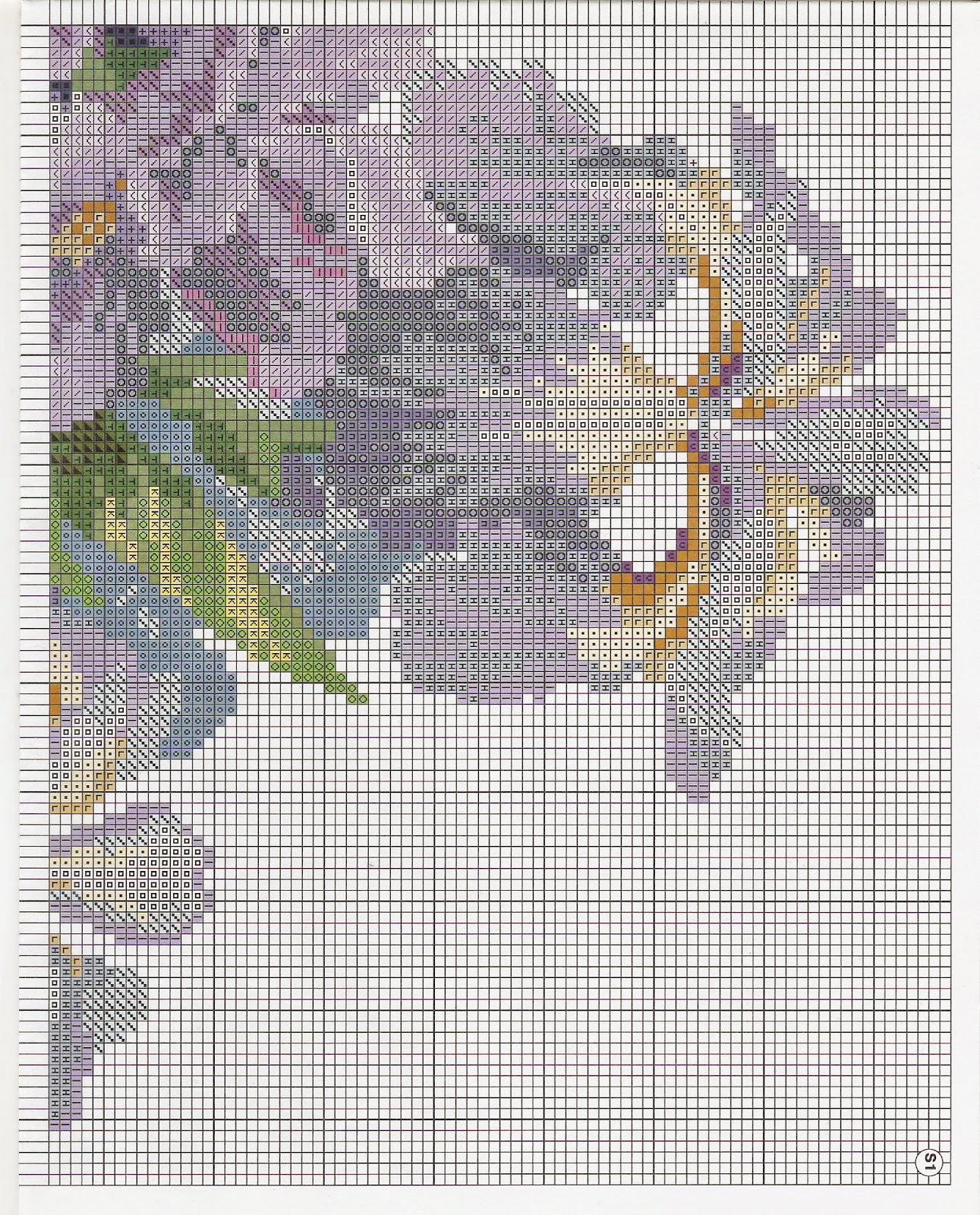 Схема вышивки ирисы риолис