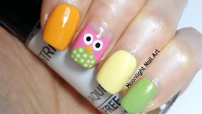 Easy Owl Nail Art Tutorial