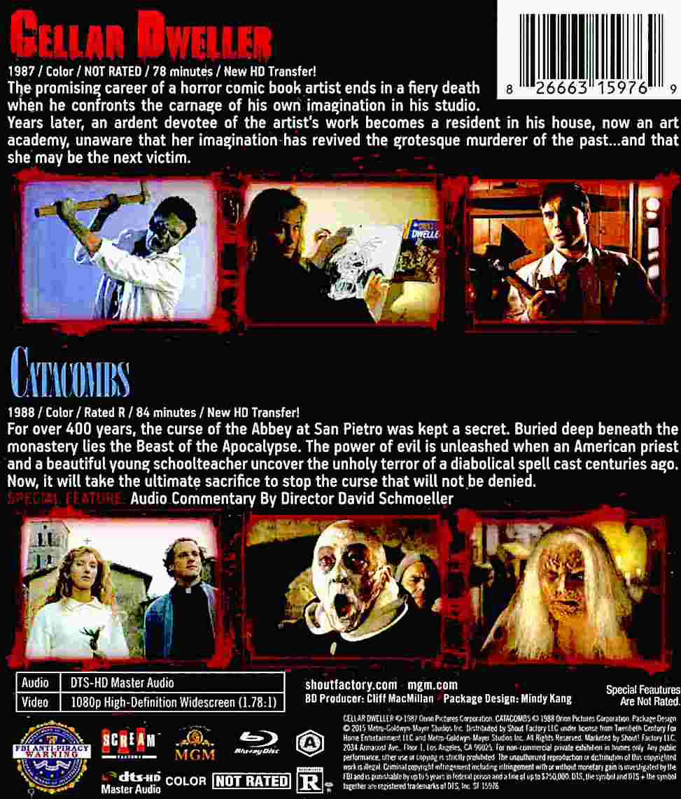 Blu-Ray And Dvd Covers Scream Factory Double Feature Blu -4842