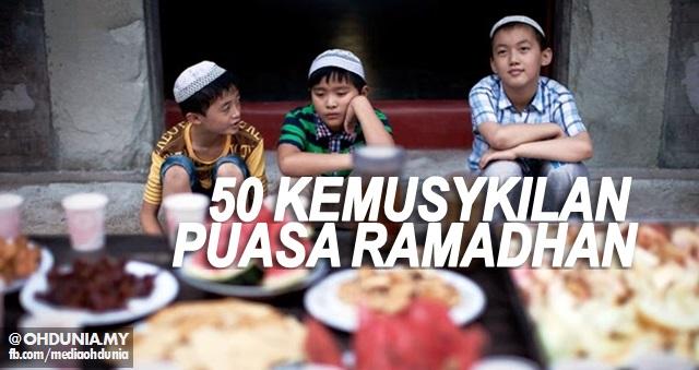 50 Perkara Yang Menjadi Kemusykilan Tentang Puasa Ramadhan