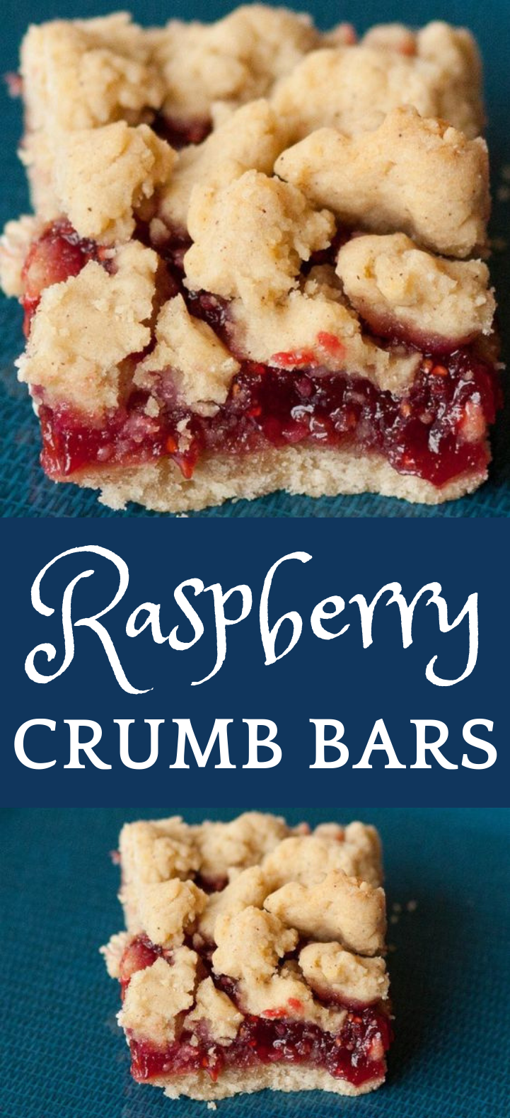 Raspberry Crumb Bars #Raspberry #Dessert