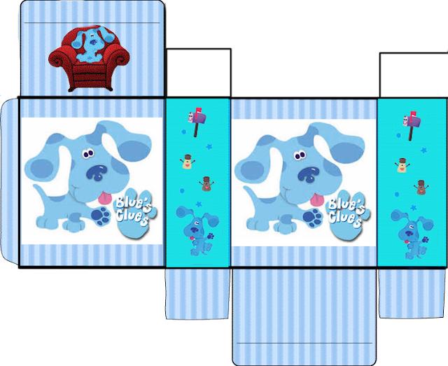 Cajas de Blue Clues para Imprimir Gratis.