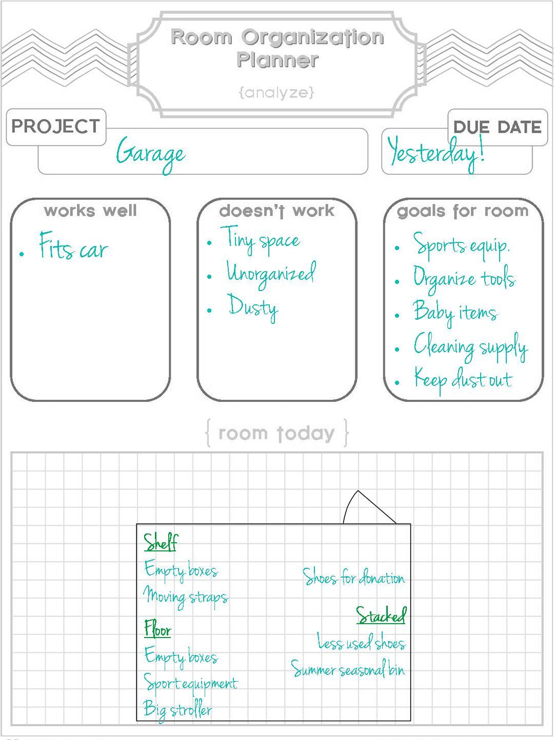 Ts We Use Room Organization Planner Amp Printable