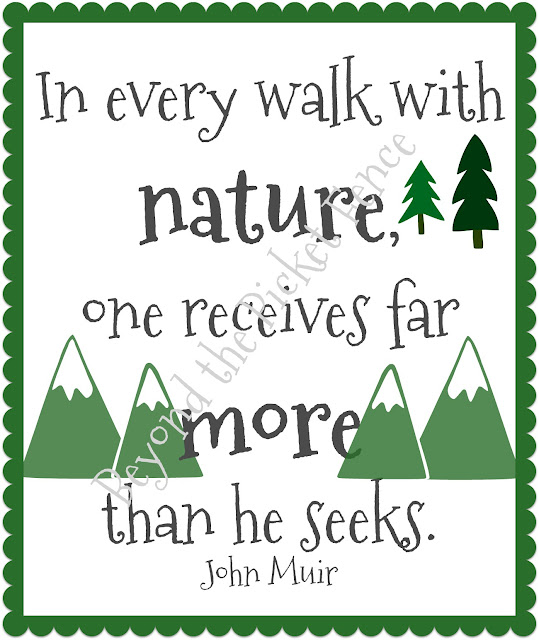 free printable about nature from john Muir