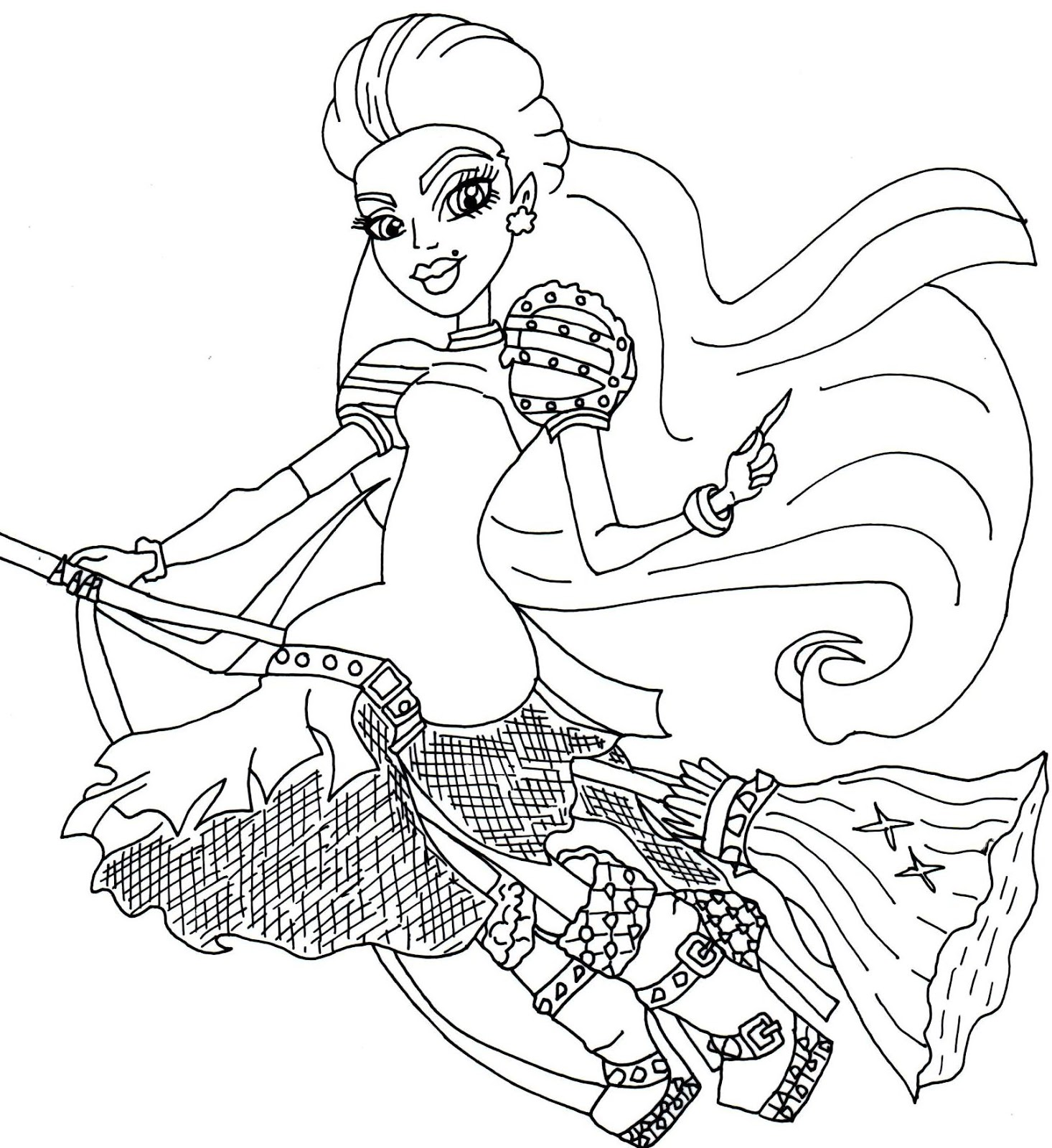 Free Printable Monster High Coloring Pages: Moanica D'Kay Monster ... | 1600x1466