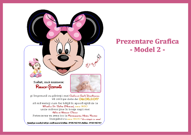 invitatii botez contur pro Mickey-Minnie